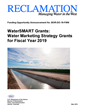 Bureau of Reclamation makes up to $3 million available for 2019 Water Marketing Strategy Grants funding opportunity