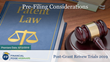 "Financial Poise™ Announces ""Pre-Filing Considerations,"" a New Webinar Premiering June 13th at 2:00 PM CST through West LegalEdcenter™"