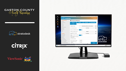 Stratodesk Works with Citrix and ViewSonic to Lead Gaston