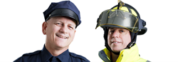 Police officer and firefigher
