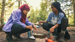 NOLS students learn outdoor cooking skills while camping in the Adirondack Forest Preserve (Photo by Kirk Rasmussen/NOLS)