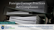 "Financial Poise™ Announces ""Foreign Corrupt Practices Act Compliance,"" a New Webinar Premiering July 11th at 1:00 PM CST through West LegalEdcenter™"