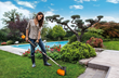 WORX 40V Trimmer/Edger functions as both a precision edger and powerful grass trimmer.