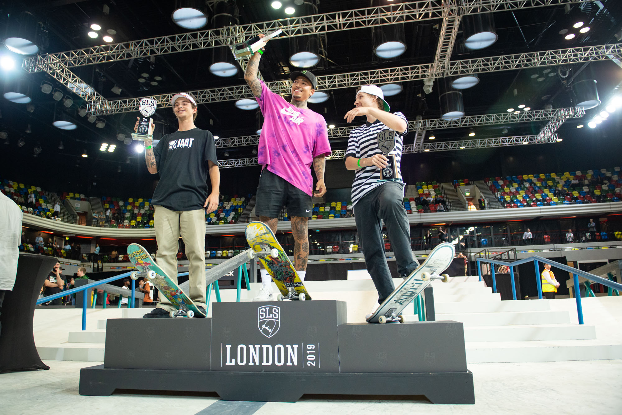 Monster Energy's Nyjah Huston Takes First Place at SLS World