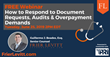 "Physicians' Reciprocal Insurers (PRI), in partnership with Frier Levitt, presents ""How to Respond to Document Requests, Audits, and Overpayment Demands"""