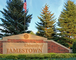 University of Jamestown campus sign