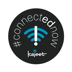 Logo for the Kajeet #connectednow Campaign