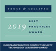 BitDam Receives the 2019 Europe Technology Leadership Award for Proactive Content Security by Frost & Sullivan