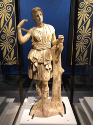 Artemis is one of 150 artifacts showcased in Treasures of Ancient Greece at The Children's Museum of Indianapolis.
