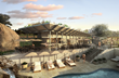 Cap Rock Members Club at Horseshoe Bay, pool building (rendering by three)