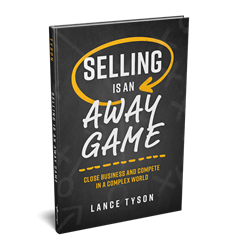 Book cover for Selling is an Away Game