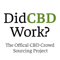 Did CBD Work - The Official CBD Crowd Sourcing Project