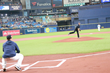 Crown Automotive Group President and COO Jim Myers throws out the Ceremonial First Pitch at the Tampa Bay Rays game on July 7, 2019.