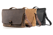 Executive Leather Messenger — chocolate, grizzly and black full-grain leather options