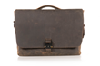 Executive Leather Messenger — chocolate full-grain leather