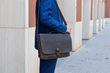 Executive Leather Messenger— chocolate full-grain leather