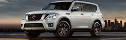 Nissan Armada SUV front and side profile