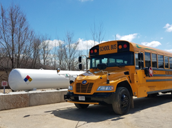 Propane autogas school buses are on the ground at Experimental Aircraft Association's AirVenture to transport thousands of visitors for this weeklong aviation celebration.