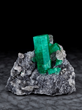 Emerald on Calcite, from the Coscuez Mine, Boyaca, Columbia. Dr. Stephen Smale Collection. Image by Evan D'Arpino.