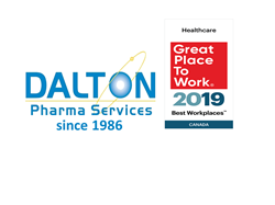 Dalton Pharma Services Features in the 2019 List of Top 20 Best