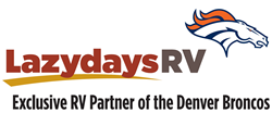 Lazydays RV is the exclusive RV partner of the Denver Broncos.