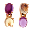 Sapphire Earrings by Jeffrey Bilgore. 12.03 cts. cabochon Sri Lankan sapphires (4 sapphires), set in 18K yellow gold