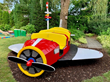 A Handcrafted, One-of-a-Kind, Children's Airplane With Stadium Seating Donated to Ronald McDonald House Charities in New Hyde Park, NY