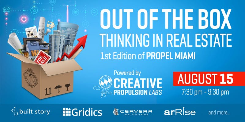Creative Propulsion Labs To Host An Evening Of Out Of The Box Thinking In Real Estate Thursday In Miami