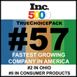 TrueChoicePack named #57 on Inc. 5000's list of the fastest growing private companies in America!
