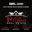 1st Class Real Estate's Proven Business Model Puts Them On The List Of The Fastest-Growing Private Companies In America