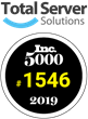 Total Server Solutions Ranks No. 1546 on the 2019 Inc. 5000