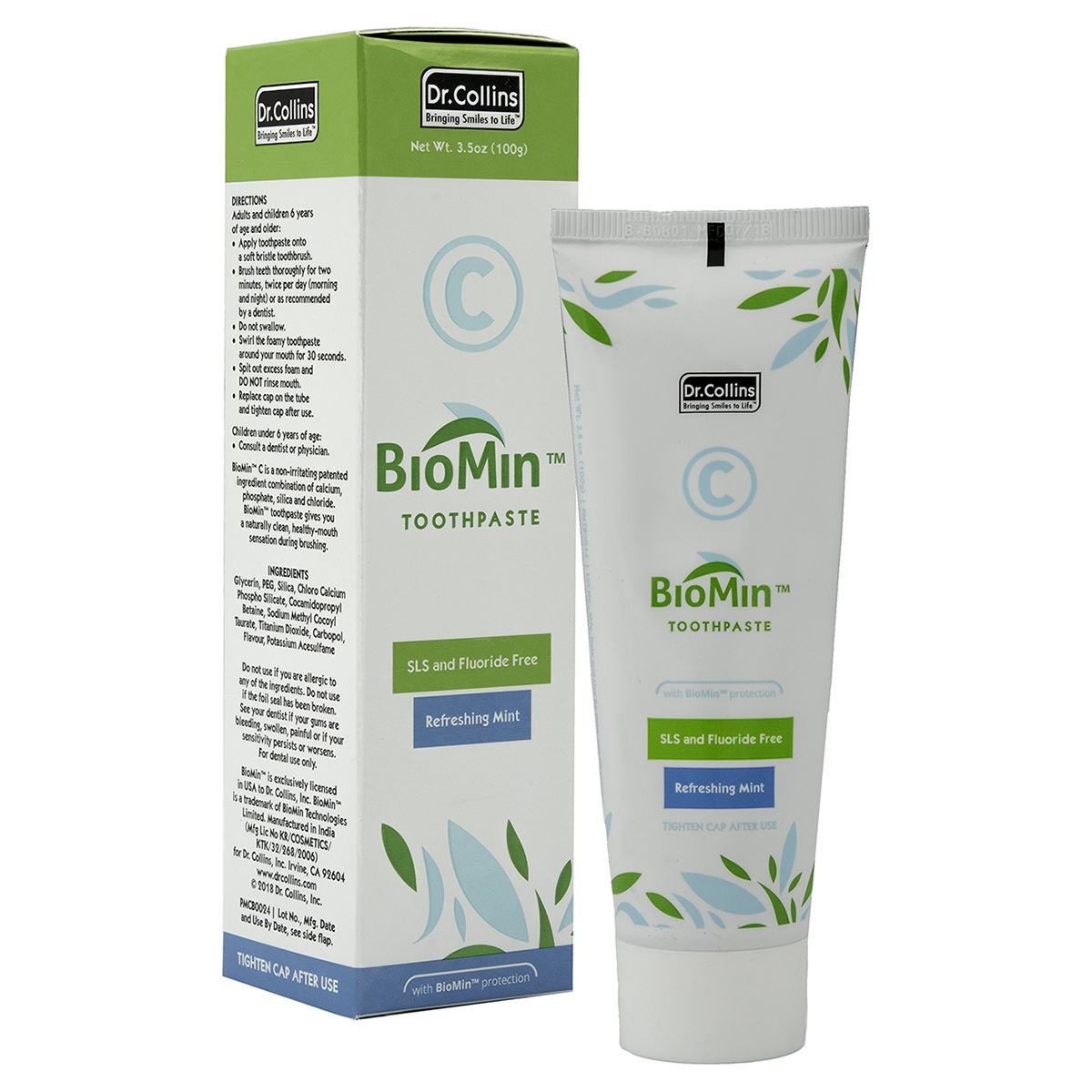 Dr Collins BioMin Toothpaste Receives FDA Approval