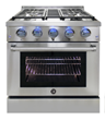 Vinotemp Adds 30-Inch Gas Range to New Line of Brama Appliances