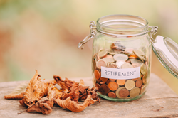 financial planning money jar with coins inside