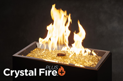 Crystal Fire® Plus Burner Technology features a brighter, fuller, taller, more yellow flame for residential and commercial patio or outdoor space use by The Outdoor GreatRoom Company