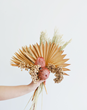 Dried Flower Bundle with Preserved Palms and Preserved Berries