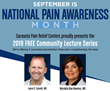 FREE Community Lecture Series for Pain Awareness Month on Sept. 26, 2019 in Sarasota, Florida