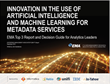 EMA Names Top Innovators in the Use of Artificial Intelligence for Data Management