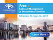 Don't Miss the Orlando Contract Management Software Training Event With CobbleStone Software