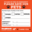 DogWatch Hidden Fences Provides Free Rescue Alert Window Stickers to Pet Owners to Celebrate National Preparedness Month