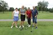 Kathleen McArdle (right), board member, with her foursome at the HOW 17th Annual Golf Invitational.