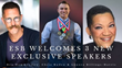 Executive Speakers Bureau Adds Three New Keynote Speakers to Their Roster