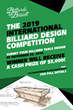 Billiards By Brandt Offers A Cash Prize Of $5,000 To The Winner Of Its 2019 International Billiard Design Competition