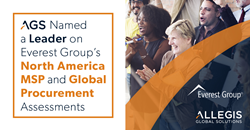 AGS named a leader on Everest Group's North America MSP and Global Procurement Assessments