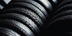Closeup of vehicle tires