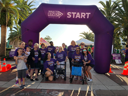 Walkers at Walk to end alzheimer's event