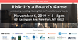 "Financial Poise Announces ""Risk: It's a Board's Game; Anticipating, Avoiding and Abating Risk of Private Company Directors,"" a Symposium to be Held in New York on 11/6"