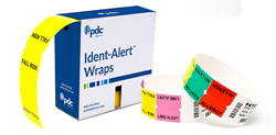 ident alert wraps and tags for wristbands