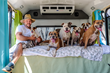 The gift of stability: SF area Pit Bull group donates buses to wildfire victims, border school for migrant children.