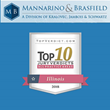 Craig Mannarino & Amanda Brasfield Recognized as Winners of One of the Top 10 Verdicts in Illinois in 2018